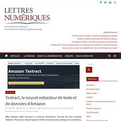 Textract, le nouvel extracteur de texte et de données d'Amazon