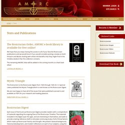 Texts and Publications from the Rosicrucian Order, AMORC