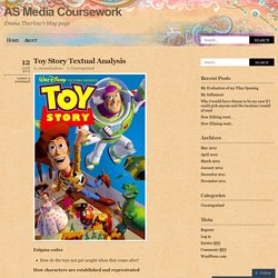 Toy Story Textual Analysis