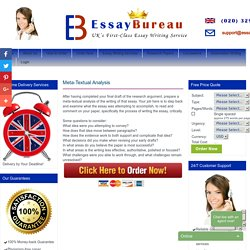UK Best Essay Writing Services