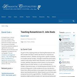 Romantic Textualities: Literature and Print Culture, 1780–1840