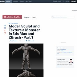 Model, Sculpt and Texture a Demon-like Monster in 3ds Max and ZBrush – Day 1