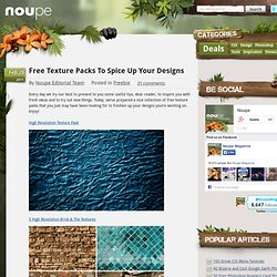 Free Texture Packs To Spice Up Your Designs - Noupe Design Blog - StumbleUpon