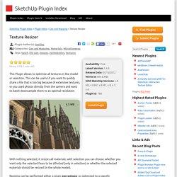 SketchUp Plugin Index