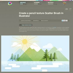 Create a pencil texture Scatter Brush in Illustrator