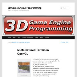 Multi-textured Terrain in OpenGL | 3D Game Engine Programming