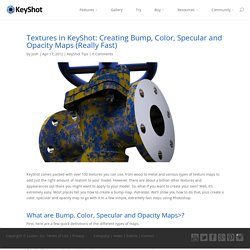 KeyShot Textures: Creating Bump, Color, Specular and Opacity Maps (Really Fast)