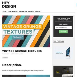 Vintage Grunge Textures - HeyDesign Magazine