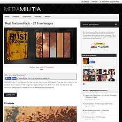 Rust Textures Pack – 21 Free Images