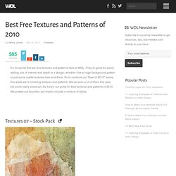 Best Free Textures and Patterns of 2010 | Freebies (Build 20120614114901)