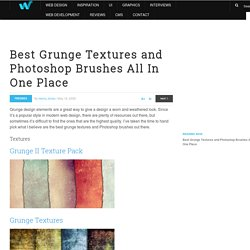Best Grunge Textures and Photoshop Brushes All In One Place | We