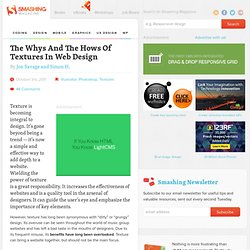 The Whys And The Hows Of Textures In Web Design - Smashing Magazine