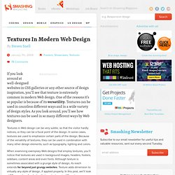 Textures In Modern Web Design | Design Showcase | Smashing Magaz