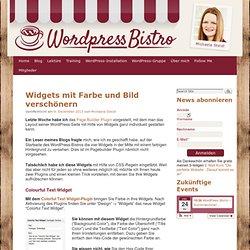 WordPress Textwidgets mit Farbe und Bild verschönern › WordPress-Bistro