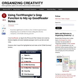Using TextWrangler's Grep Function to tidy up GoodReader Notes