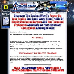 Tezak Traffic Power - Manual Free Traffic Exchange