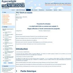 TFE TDA/H et maladie