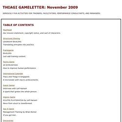 TGL: November 2009
