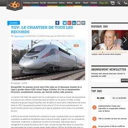 TGV: le chantier de tous les records