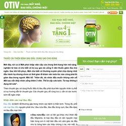 Thận trọng khi dùng thuốc trị đau đầu - OTiV