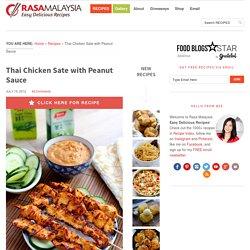Thai Chicken Sate Recipe
