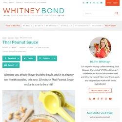Thai Peanut Sauce - Quick & Easy Recipe