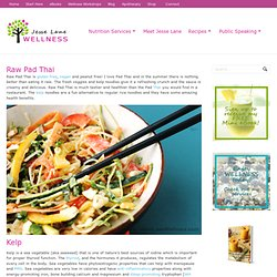 Raw Pad Thai Recipe - Peanut Free by Jesse Lane