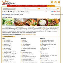 Thai Recipes — Home-style Cooking from Thailand » Temple of Thai