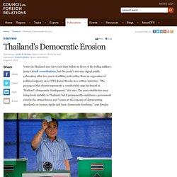 Karen Brooks: Thailand's Democratic Erosion