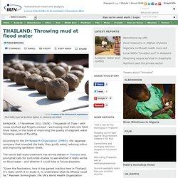 THAILAND: Throwing mud at flood water