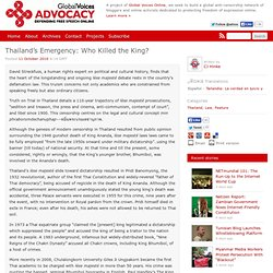 Thailand's Emergency: Who Killed the King?