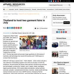 Thailand to host two garment fairs in July
