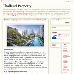Thailand Property: Thailand property: Get to know about prospective buyers!
