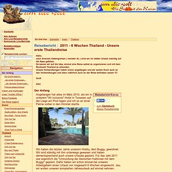 "Thailand-Reisebericht: ""Der Anfang"""