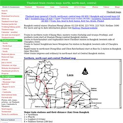 Thailand train railway map