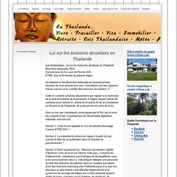 Loi sur les boissons alcoolisée en Thailande - Thailande, Vivre, retraite, Visa en thailande, Tourisme et lois Thailandaise - enthailande.org
