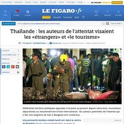 Thaïlande : les auteurs de l'attentat visaient les «étrangers» et «le tourisme»