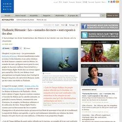 Thaïlande/Birmanie : Les « nomades des mers » sont exposés à des abus