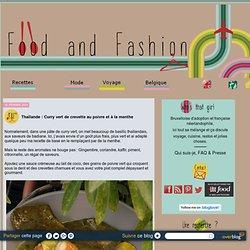 Thaïlande : Curry vert de crevette au poivre et à la menthe