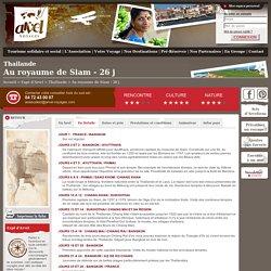 Voyage thailande-26j details, Au royaume de Siam - 26 j - Arvel Voyages
