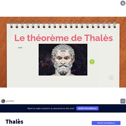 Thalès by talam_talam on Genially