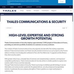 Thales Communications & Security - Thales Group outil génial pour chiffre les flux de stockage d'une entreprise