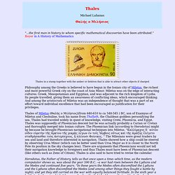 Thales of Miletus, Mathematics and Life