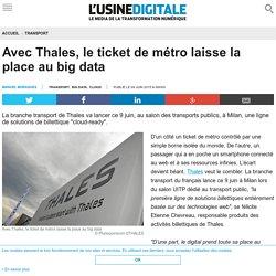 Avec Thales, le ticket de métro laisse la place au big data