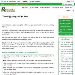 Thành lập công ty Việt Nam - Kế Toán
