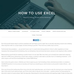 Thank You for Downloading How To Use Excel