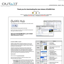 Thank you - OutWit Hub