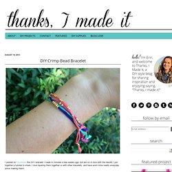 DIY Crimp Bead Bracelet