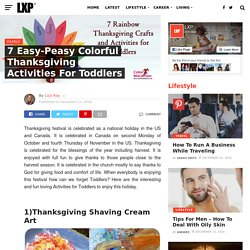 7 Easy-Peasy Colorful Thanksgiving Activities for Toddlers