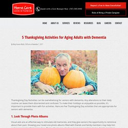 5 Thanksgiving Activities for Seniors with Dementia